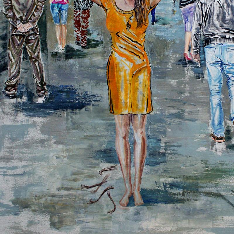 Silent Protest-by Livia Geambasu-oil-80x80cm
