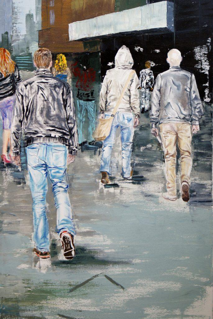 Protest mut by Livia Geambasu, 80x80cm, oil on canvas