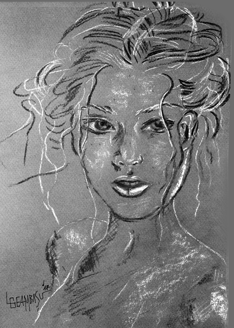 Spring-30x42cm-charcoal-on-paper-by-Livia-Geambasu
