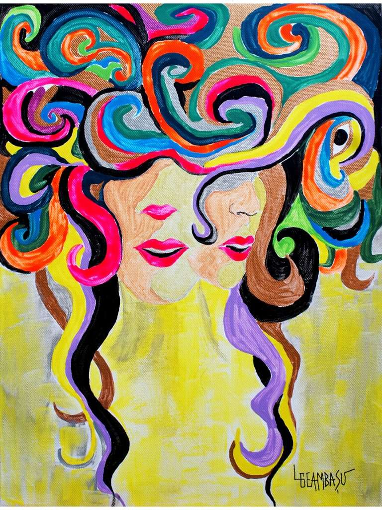 Rainbow-Curls-tempera-on-canvas-30x40cm-by-Livia-Geambasu