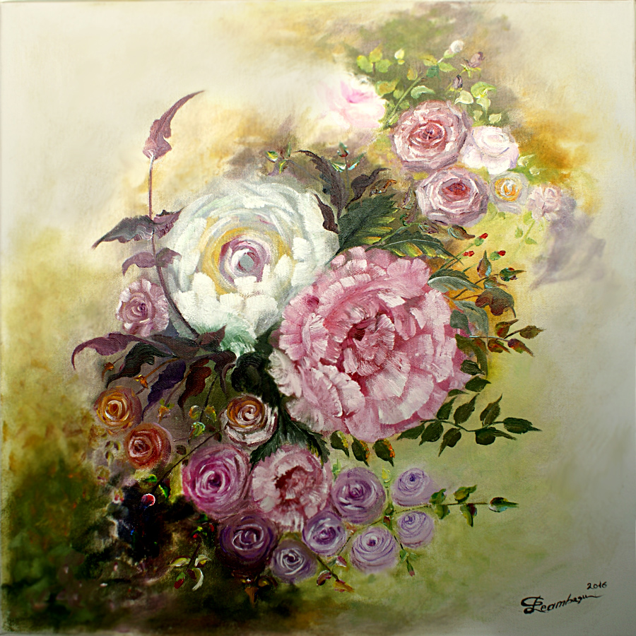 The-Garden-Patch-oil-on-canvas-60x60cm-by-Livia-Geambasu