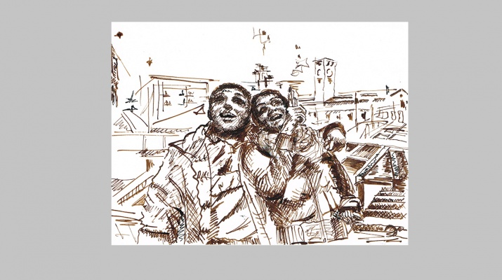 a-Happy-Date-in-London-by-Livia-Geambasu-charcoal
