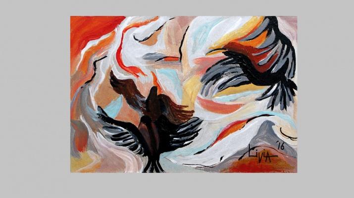 Eagles-by-Livia-Geambasu-oil