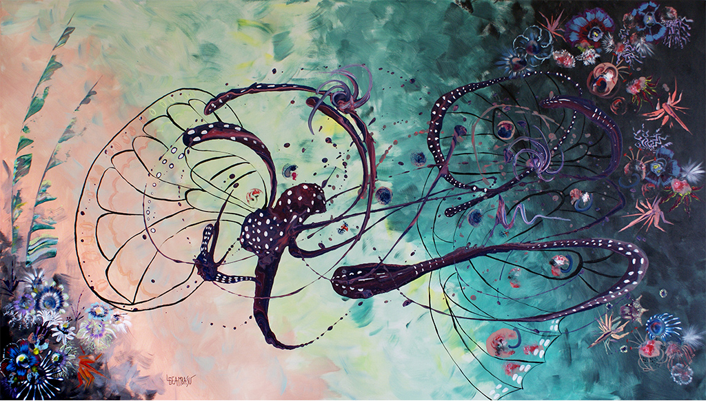Birth-of-Danainae-Butterflies-by-Livia-Geambasu-acrylic-160x90cm