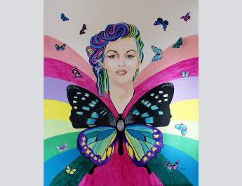Free-as-a-Butterfly-mixed-media-acrylic+oil-120x100cm-by-Livia-Geambasu