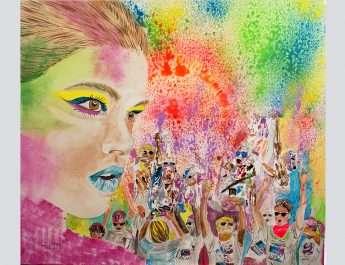 The-Color-Run-tempera-canvas-80x70cm-by-Livia-Geambasu-2017